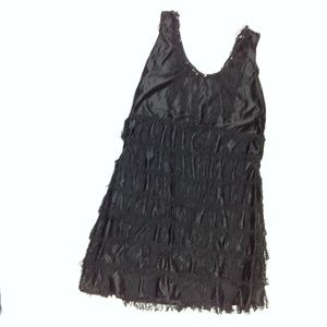 Black Flapper Fashion Fringe Dress Plus One Size